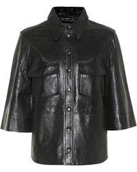 Ganni Hemd aus Leder - Schwarz