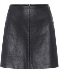 Stouls Mini-jupe Santa Maria en cuir - Noir