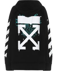 Off-White c/o Virgil Abloh Logo Cotton Hoodie - Black