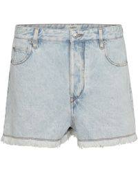 Étoile Isabel Marant Lesiasr High-rise Denim Shorts - Blue