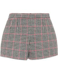 RED Valentino - Houndstooth Shorts - Lyst