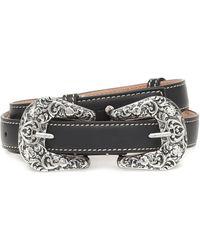 Acne Studios Leather Belt - Black
