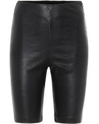GRLFRND Carter Leather Biker Shorts - Black