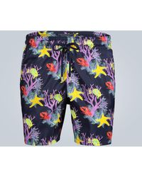 Vilebrequin Mahina Printed Swim Shorts - Blue