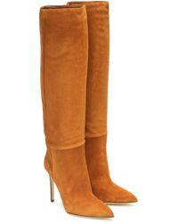 Paris Texas Stiefel aus Veloursleder - Braun