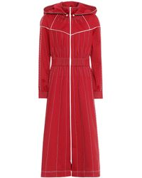 Valentino - Techno Jersey Hooded Maxi Dress - Lyst