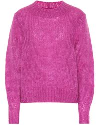 Isabel Marant Ivah Mohair And Wool-blend Sweater - Multicolor