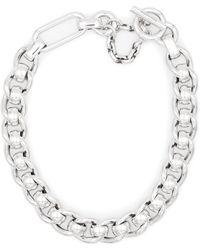 Bottega Veneta Halskette aus Sterlingsilber - Mettallic