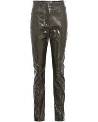 Acne | Tugi Vinyl High-waisted Trousers | Lyst