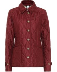 Burberry Fernleigh Quilted Shell Jacket - Red