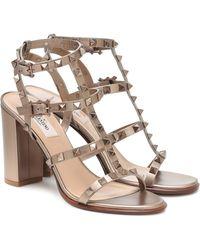 Valentino Garavani Rockstud Leather Sandals - Multicolour