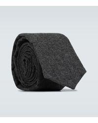 Thom Browne Krawatte aus Wolle und Kaschmir - Grau