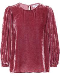 Velvet Brenda Blouse - Pink
