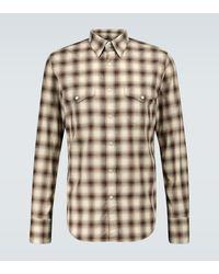 Tom Ford Kariertes Hemd aus Baumwolle - Braun