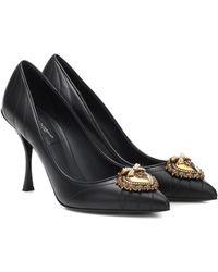 Dolce & Gabbana Pumps Lori aus Matelassé-Leder - Schwarz