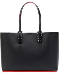 Christian Louboutin Cabata Patent-leather Tote - Black