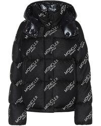 Moncler Exclusivité Mytheresa – Veste doudoune Caille imprimée à capuche - Noir