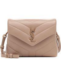 Saint Laurent Loulou Toy Leather Shoulder Bag - Natural