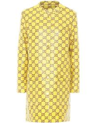 Gucci Impermeabile in tweed GG - Giallo