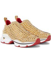 Christian Louboutin Sneakers Spike Sock Donna - Mettallic