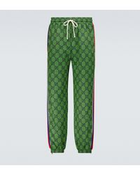 Gucci Pantalones de chándal GG de jersey - Verde