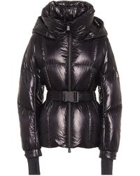 3 MONCLER GRENOBLE Grossaix Belted Down Puffer Jacket - Black
