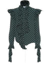Vetements Polka Dot Crêpe Shirt - Green