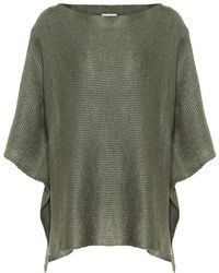 Brunello Cucinelli - Top in lino e seta - Lyst