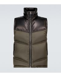 Tom Ford - Nylon And Leather Down-filled Gilet - Lyst