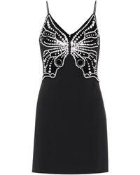 David Koma Kleid mit Perlendetails - Schwarz