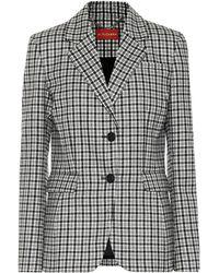 Altuzarra Fenice Checked Stretch-wool Blazer - Black