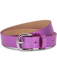 Isabel Marant Cinturón Zap de piel efecto serpiente - Morado