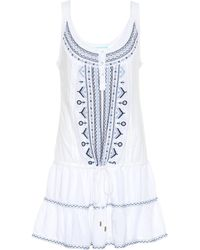 Melissa Odabash Jaz Embroidered Minidress - Blue