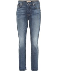 7 For All Mankind - High-Rise Cropped Jeans Josefina - Lyst