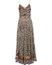 Camilla Leopard-print Silk Maxi Dress - Brown
