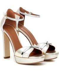Malone Souliers Miranda 125 Leather Platform Sandals - Metallic