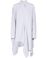 MM6 by Maison Martin Margiela Striped Asymmetric Shirt - Blue