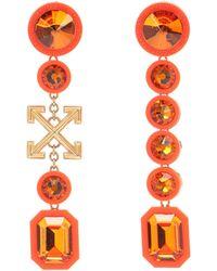 Off-White c/o Virgil Abloh Verzierte Ohrringe - Orange
