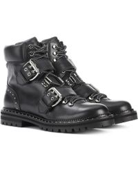 Jimmy Choo Ankle Boots Breeze aus Leder - Schwarz