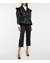Simone Rocha Leather Biker Jacket - Black
