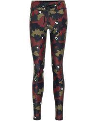 The Upside Jungle Yoga Camo-print leggings - Black