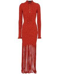 Alanui Desert Is My Tennis Court Midi Dress - Red