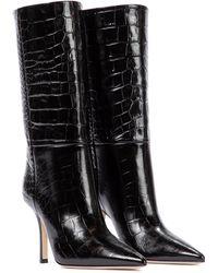 Paris Texas Croc-effect Leather Boots - Black
