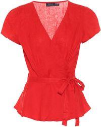 Polo Ralph Lauren Top wrap de lino - Rojo