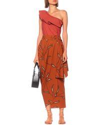 Johanna Ortiz Eco Warrior Cotton-poplin Wrap Skirt - Orange