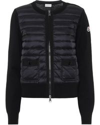 Moncler Down Wool Cardigan - Black