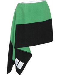 CALVIN KLEIN 205W39NYC Falda de lana y algodón - Verde