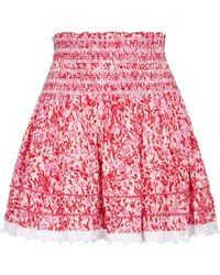 Poupette - Exclusive To Mytheresa – Galia Floral Miniskirt - Lyst