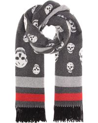 Alexander McQueen - Skull Wool And Cashmere Scarf - Lyst