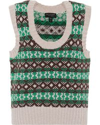 Burberry - Fair Isle Cashmere And Wool Vest - Lyst